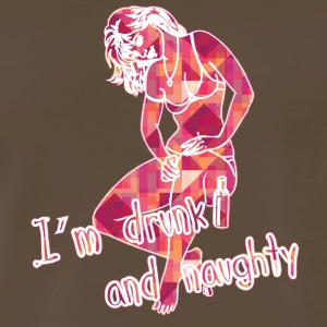 I_am_drunk_and_naughty_color - Men's Premium T-Shirt