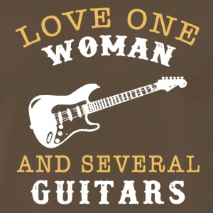 Love One Woman And Several Guitars Shirt - Men's Premium T-Shirt