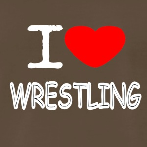 I LOVE WRESTLING - Men's Premium T-Shirt