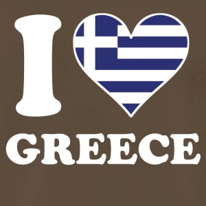 I Love Greece Greek Flag Heart - Men's Premium T-Shirt