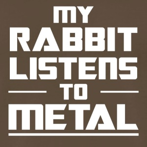 My Rabbit listens to metal - Men's Premium T-Shirt