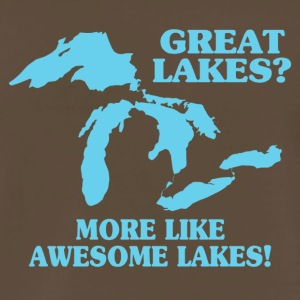 Great Lakes More Like Awesome Lakes - Men's Premium T-Shirt