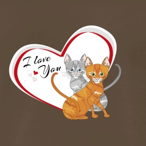 cat in love - Men's Premium T-Shirt