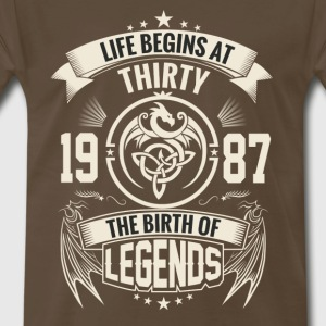 The Birth of Legends 1987 - Men's Premium T-Shirt