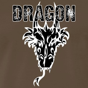 dragon_head_with_horns_black - Men's Premium T-Shirt