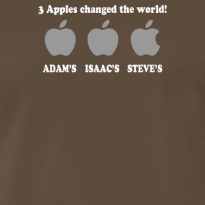 3 Apples Change The World - Men's Premium T-Shirt