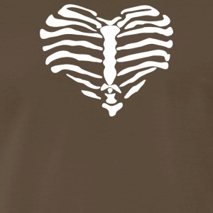 Heart Bones Skulls - Men's Premium T-Shirt