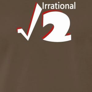 Irrational Numbers Mathematics Geek Square root of - Men's Premium T-Shirt