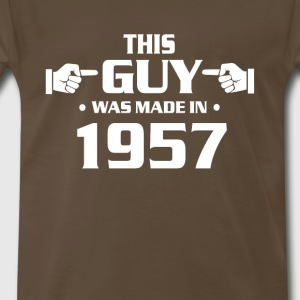 60th birthday shirts - Vintage 1957 birthday shirt - Men's Premium T-Shirt