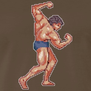 Pixel Bodybuilder - Men's Premium T-Shirt