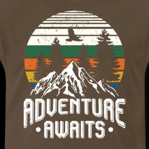 Adventure awaits - camping scout hiking
