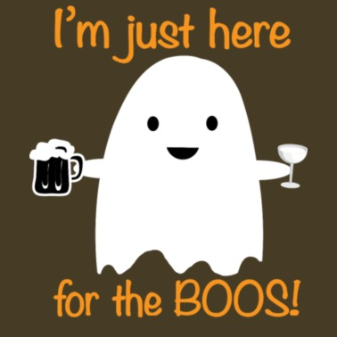 7970378f231 Haloween Shirt Funny Im just Here For The Boos Men s Premium T-Shirt ...