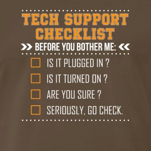 Tech Support Checklist Before Bother Me