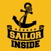 Sailor Inside Anchor Logo Design - Men's Premium T-Shirt