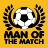MAN of the MATCH soccer ball with circlet black and white - Men's Premium T-Shirt