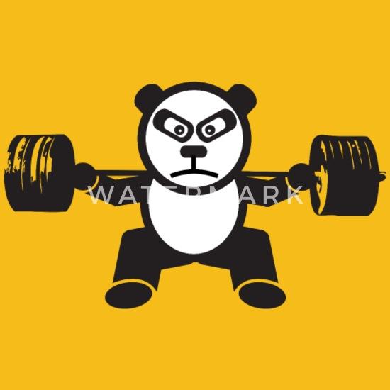 Weightlifting Panda Bear Squat Mens Premium T Shirt Spreadshirt