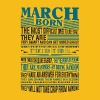Best selling born in March shirts - Men's Premium T-Shirt