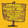 Warning Redneck Zone Proceed At Your Own Risk   - Men's Premium T-Shirt