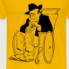 Old Man in a Wheelchair - Men's Premium T-Shirt