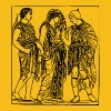 Hermes, Orpheus and Eurydice - Men's Premium T-Shirt