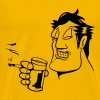 Head hand drink drinking cigarette fry party glass - Men's Premium T-Shirt
