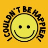 I couldn't be HAPPIER! with yellow smiley - Men's Premium T-Shirt