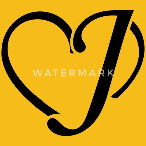 Heart Letter J Men S Premium T Shirt Spreadshirt