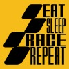 Eat Sleep Race Repeat MOTOGP - Men's Premium T-Shirt