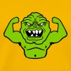 monster bodybuilder muscles strong man Muckis hulk - Men's Premium T-Shirt
