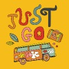 Just Go! Travel T-shirt design - Men's Premium T-Shirt