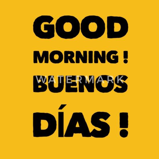 Good Morning in Spanish | Buenos días Men\'s Premium T-Shirt - sun yellow