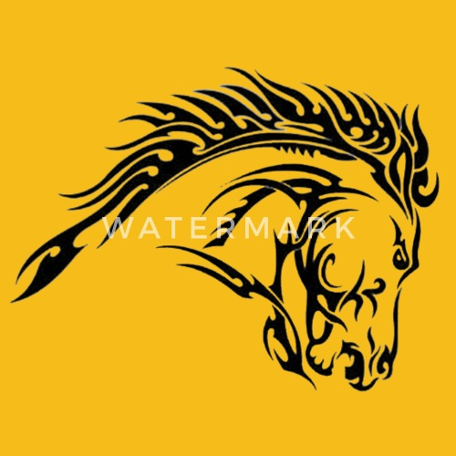 Tribal Horse Tattoo Designs Men S Premium T Shirt Spreadshirt