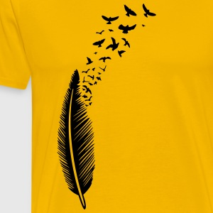 Feather with birds - Men's Premium T-Shirt