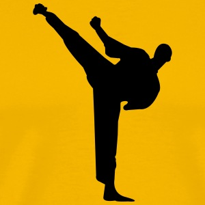 Karate fighter silhouette 2 - Men's Premium T-Shirt