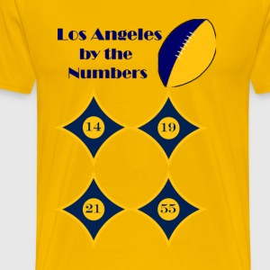 By The Numbers-Los Angeles, CA Football - Men's Premium T-Shirt