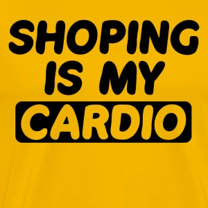 Shopping is My Cardio - Men's Premium T-Shirt