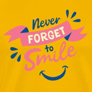 Never forget to smile - Men's Premium T-Shirt