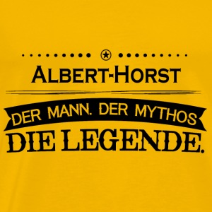 Mythos Legende Vorname Albert Horst - Men's Premium T-Shirt