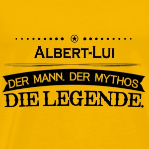 Mythos Legende Vorname Albert Lui - Men's Premium T-Shirt