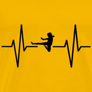 My heart beats for karate! gift - Men's Premium T-Shirt