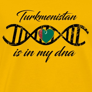 love my dns dna land country Turkmenistan - Men's Premium T-Shirt