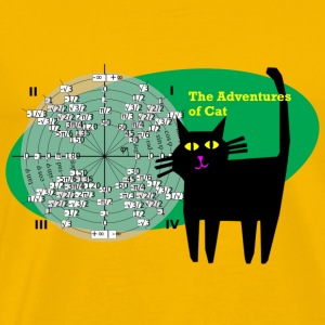 Cat Gets Trig - Men's Premium T-Shirt