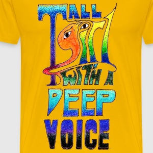 Tall Girl with a Deep Voice (dark lines) - Men's Premium T-Shirt