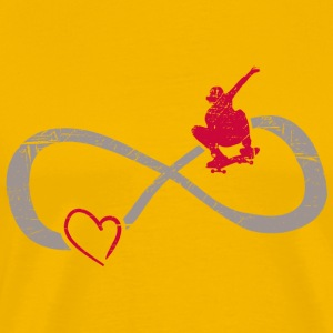 Infinite Love ∞ I Love Skateboarding ∞ Red Skater - Men's Premium T-Shirt