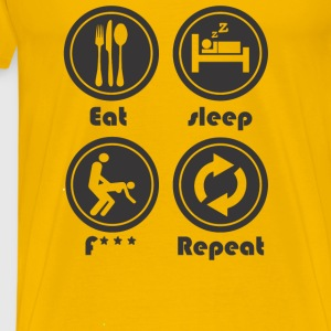 Eat Sleep F Repeat - Men's Premium T-Shirt