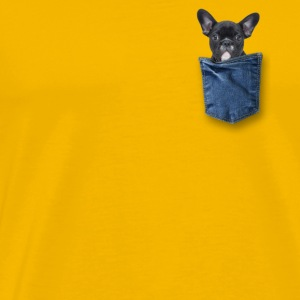 bulldog in my pocket - Men's Premium T-Shirt