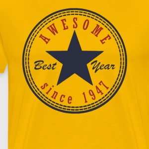 70th Birthday Awesome since T Shirt Made in 1947 - Men's Premium T-Shirt