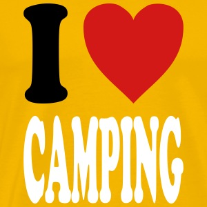 I love CAMPING (variable colors!) - Men's Premium T-Shirt