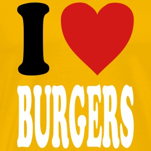 I love BURGERS (variable colors!) - Men's Premium T-Shirt