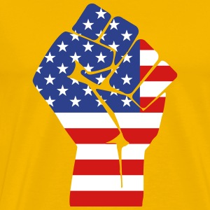 fist with flag of the USA (variable colors!) - Men's Premium T-Shirt